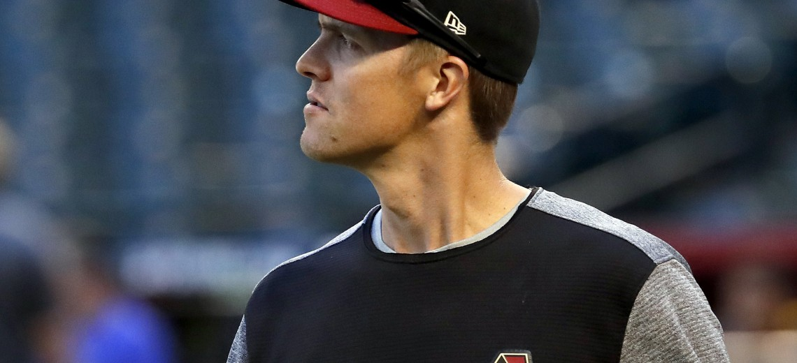 Arizona Diamondbacks starting pitcher Zack Greinke takes the field during a workout at Chase Field, Tuesday, Oct. 3, 2017, in Phoenix, as the team gets ready for a National League wild-card playoff baseball game. The Diamondbacks host the Colorado Rockies on Wednesday. (AP Photo/Matt York)